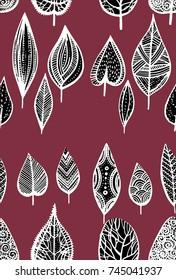 autumn leaves illustration pattern