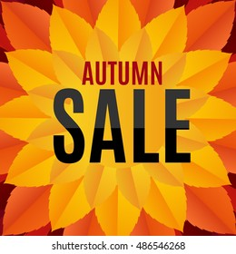 Autumn Leaves Sale Background Illustration