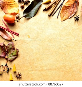 Autumn leaves,incense and spice.