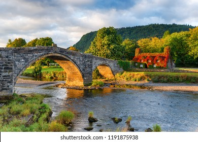 Autumn at Llanrwst bridge in north Wales