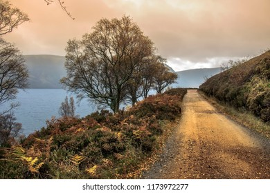 Autumn at Loch Muick in Aberdeenshire, Scotland, UK. Royal Deeside on the Balmoral Estate.