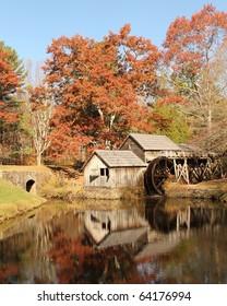 Autumn at Mabry Mill, Virginia