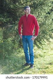 Autumn Man, Outdoors, Forest