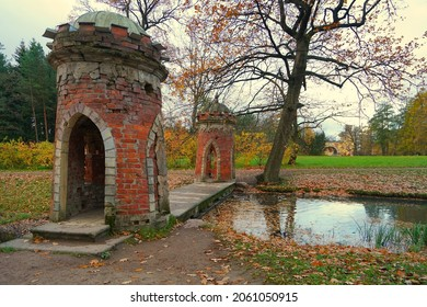 Autumn morning and a walk in the Catherine Park in Tsarskoe Selo - Shutterstock ID 2061050915