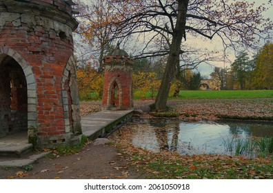 Autumn morning and a walk in the Catherine Park in Tsarskoe Selo - Shutterstock ID 2061050918