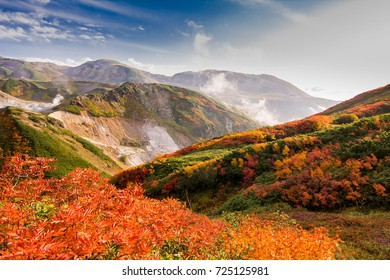 Autumn mount  that is called Mt. Tate in Japan