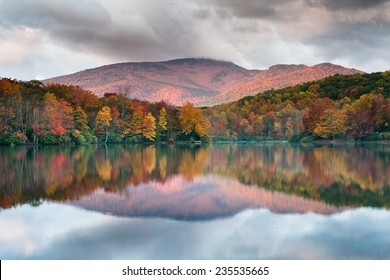 Autumn Mountain Reflections North Carolina Grandfather Mountain Price Lake Blue Ridge Parkway Attraction