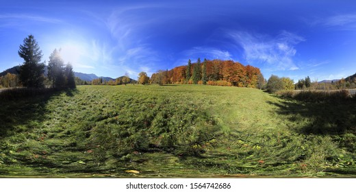Autumn in the mountains 360 Panorama