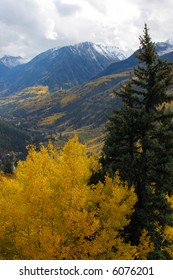 Autumn mountains in colorado rockies