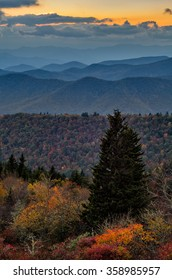 Autumn in the Mountains of North Carolina  the along Blue Ridge Parkway
