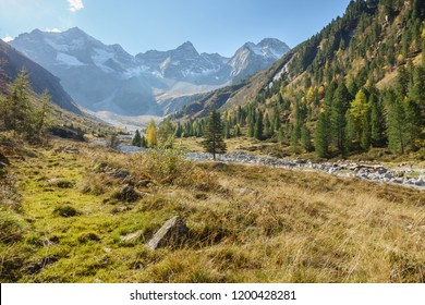 Autumn in the mountains of the Zillertal
