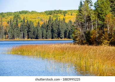 Autumn Northern Saskatchewan wilderness prestine rural scenic