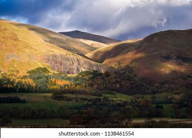 Autumn at the Ochil Hills, Highland, Scotland