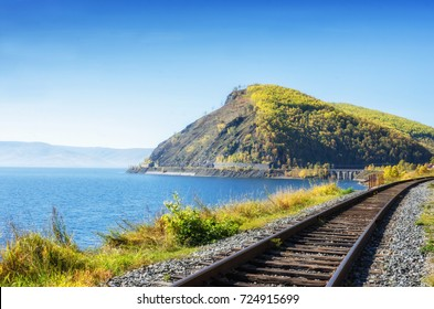 Autumn on Circum-Baikal Railway, Eastern Siberia, Russia