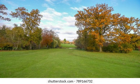 Autumn on a golf course in England UK