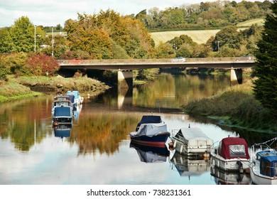 Autumn on the River Dart in South Devon.