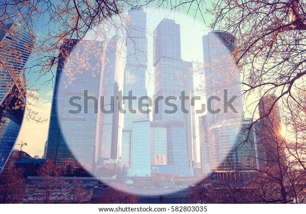 autumn park blurred background translucent frame for text