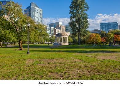 Autumn Park in Boston
