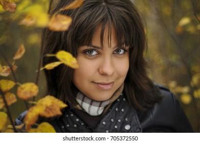 Autumn Portrait Female Face