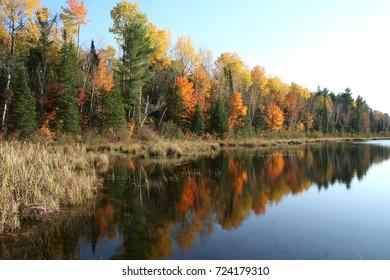 Autumn in Quebec. Canada, north America.