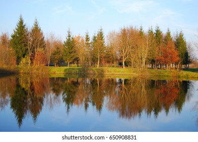 Autumn reflections from the lake