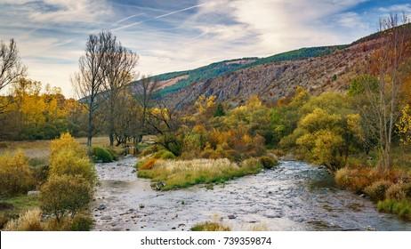 Autumn river, Visocka rzana, Stara Planina, Pirot - Shutterstock ID 739359874
