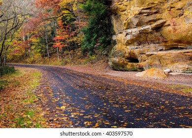 Autumn Road in Hocking County, Ohio