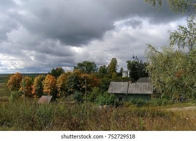 Autumn in a Russian village, Yaroslavl Region.