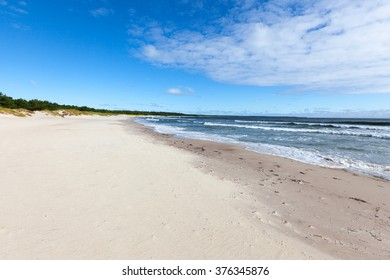 Autumn scene of Bada beach of Oland Island, Kalmar, Sweden.