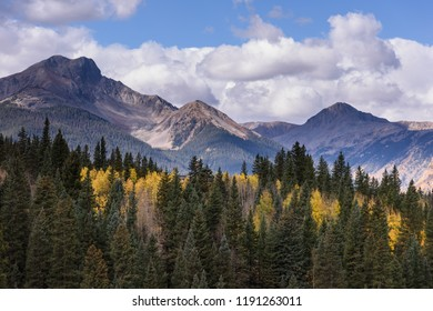 Autumn Scenery in the Beautiful San Juan  Mountains of Colorado