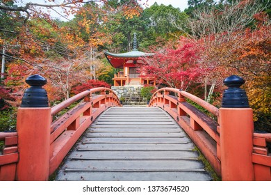 Autumn scenery of Daigoji temple (Daigo-ji) in Kyoto, Japan.