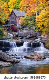 Autumn scenic, Glade Creek Gristmill, West Virginia