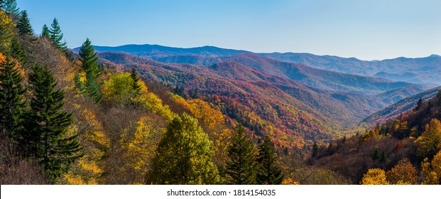 Autumn Scenics in the Great Smoky Mountains National Park - Shutterstock ID 1814154035