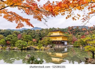 Autumn season of Kinkakuji Temple (The Golden Pavilion) in Kyoto, Japan.