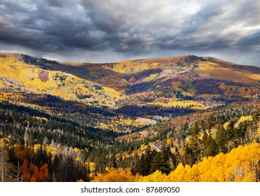 autumn season in mountains
