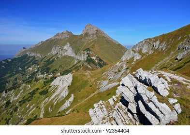 Autumn season in Tatry Bielskie Mountains, Slovakia