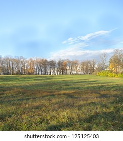 Autumn site in  the town of Tsarskoye Selo, south-east of St. Petersburg, Russia.It is now part of the town of Pushkin and of the World Heritage Site Saint Petersburg and Related Groups of Monuments.