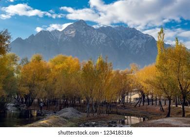 Autumn at Skardu Valley. Northern Area Pakistan