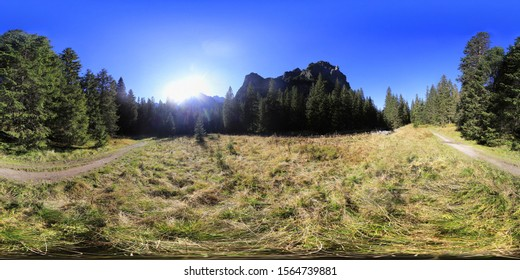 Autumn in Slovakian Tatra Mountains HDRI Panorama