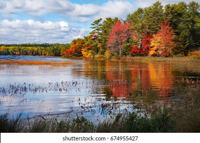 Autumn At Somes Pond, Mount Desert Island, Acadia National Park, Maine, USA