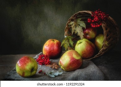 Autumn still life in a country house