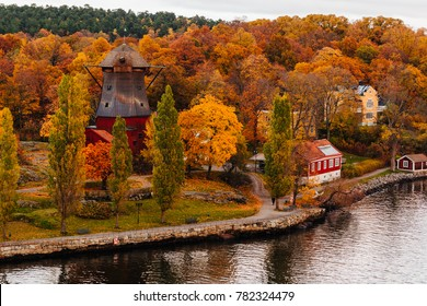 autumn in the suburbs of Stockholm Sweden