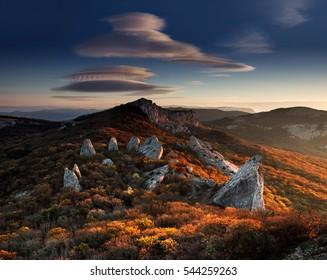 The Autumn Sun Temple. Crimea