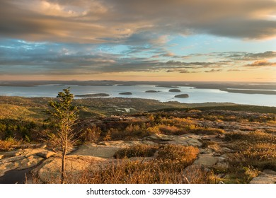 Autumn Sunrise from Cadillac Mountain in Maine