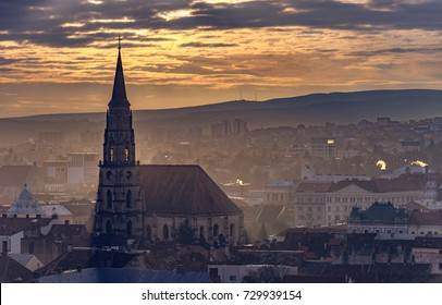 Autumn sunrise in Cluj-Napoca