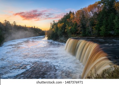 Autumn Sunrise at Tahquamenon Falls State Park in Michigan's Upper Peninsula.