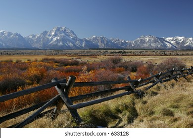 Autumn Tetons Range View
