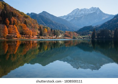 Autumn in Thonons Les Bains in France.