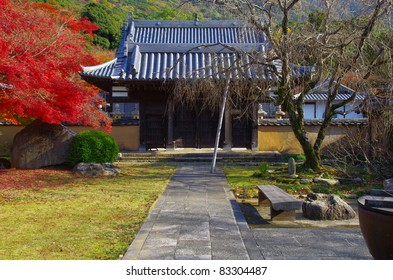 Autumn tint and temple in Japan