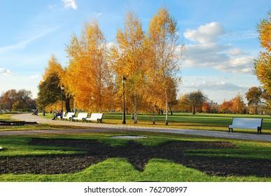 Autumn in Tsaritsyno Park. Moscow
